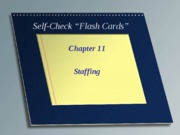 Self Check Chapter 11