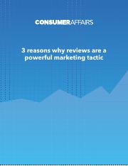 3 REASEONS why reviews are a powerful marketing tool