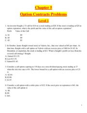 Chapter 5 - Option Contracts  - Problems