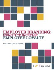 Article summary - Using employer branding to increase loyalty