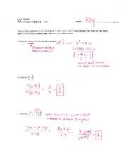 Math 115 Quiz 6 Key on Algebra