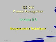 EE546_L06 - Nonparametric Techniques - Introduction - Parzen Windows