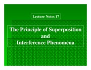 Ch 17 Principle of Superposition and Interference Phenomena
