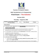 1-Final Exam Summer 2015 The Solution (1).docx