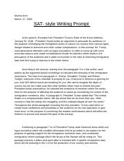 SAT- Style Writing