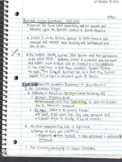 Lecture Notes US History to 1876