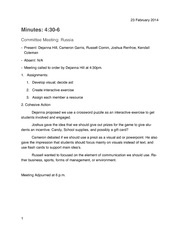 Buisness Meeting Minutes Outline