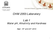CHM 2353 Laboratory- expt 1