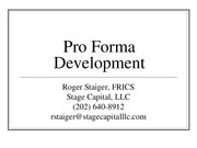 Introduction to Pro Forma Modeling with Excel Session 4 Slides