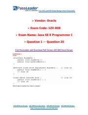 1Z0-808 Exam Dumps with PDF and VCE Download (1-20).pdf
