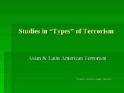 Asian &Latin American Terrorist Groups-S2L4-student