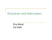 (12) Functins Subroutines (Sina)