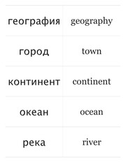 Russian Vocab Geography