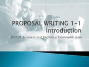 Lecture 6-1 - Proposal Writing