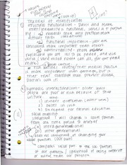 Theories of Stratification Notes