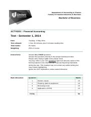 ACTY6201 S1 2014 Test and Marking Guide (7).doc