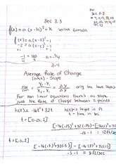 College Algebra 122, chapters 3.3 -3.5