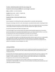 Susan E Olson BSHS405 Roles and Responsibilities of Case Managers.docx