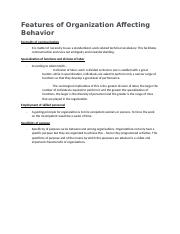 Features-of-Organization-Affecting-Behavior.docx