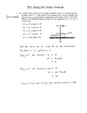 Exam 3 Solution Spring 2006 on Physics 1 Honors with Mechanics