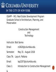 Class 1 - Introduction to Construction Management May 31 - 2018 R2 (1).pptx