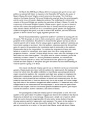 barack obama a more perfection union speech analysis paper