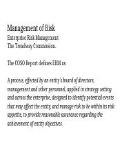 Management of Risk 9-5-16