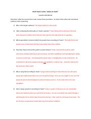 Question Worksheet Key Doc Mark Twains Satire Advice To Youth