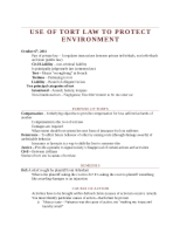 Week 4 - Use of Tort Law