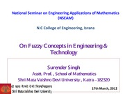 On Fuzzy Concepts in Engineering&Technology
