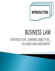 BUS115Jan2017_Topic 01 - Business Law Intro