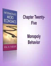 Varian_Chapter25_Monopoly_Behavior