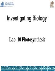 Lab_10 Photosynthesis1