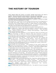 THE HISTORY OF TOURISM.docx