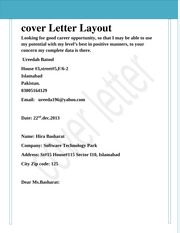 cover letter layout