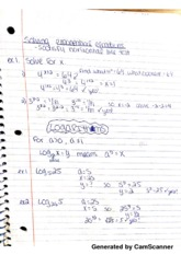 Solving Exponential Equations Notes