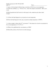 Quiz 10 potential problems ChE 350 F09