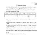 Lab 2 Assessment Questions