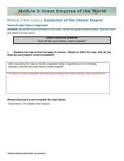 HA3.04.1 Islamic Empire Expansion Honors Assignment (1).docx