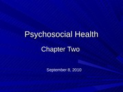 Psychosocial Health_Chapter 2
