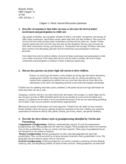 human sexuality exam on chapters 2 Childhood sexuality, sexual behaviors, preadolescence, sexual intercourse, premarital intercourse, psychological outcomes, premarital sex, initiation of interaction.