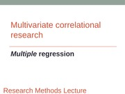 II.5 - Multiple Regression Expanded