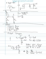 ME 491 Electric Output Stages Notes