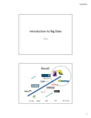 Big Data revised for Fall 2013