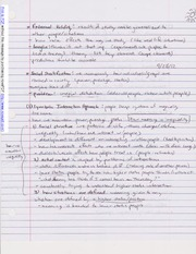 Notes on Social Stratification and Class