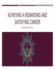 ACHIEVING A REWARDING AND SATISFYING CAREER.pptx