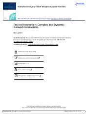 Festival Innovation Complex and Dynamic Network Interaction.pdf