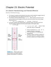 Physics Chapter 23 Electric Potential.docx