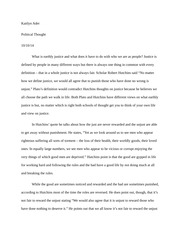 Political thought paper