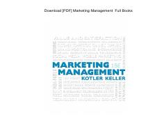 Philip Kotler Marketing Management 13th Edition Pdf